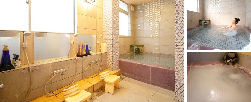 潮騒の宿ふじま;藤の湯 2種類のお風呂