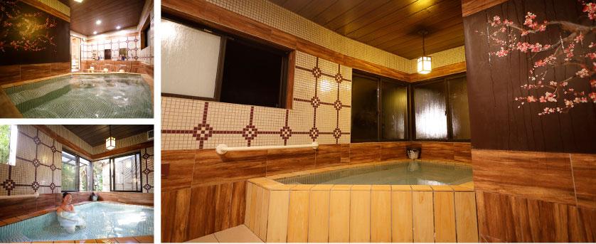 潮騒の宿ふじま;梅の湯 半露天風呂